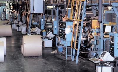 コルゲーターから始まる段ボール製造