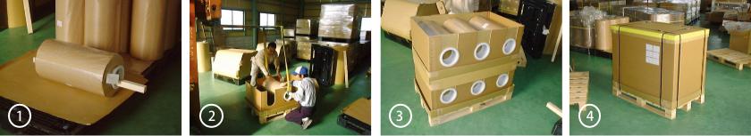 重量物梱包材 組立順